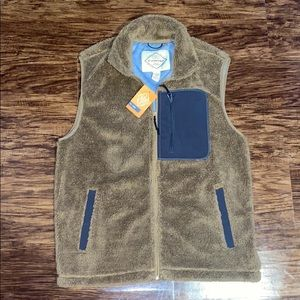 St. John's Bay faux sheepskin vest